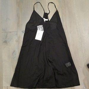 Iro Black Slip Dress Sheer